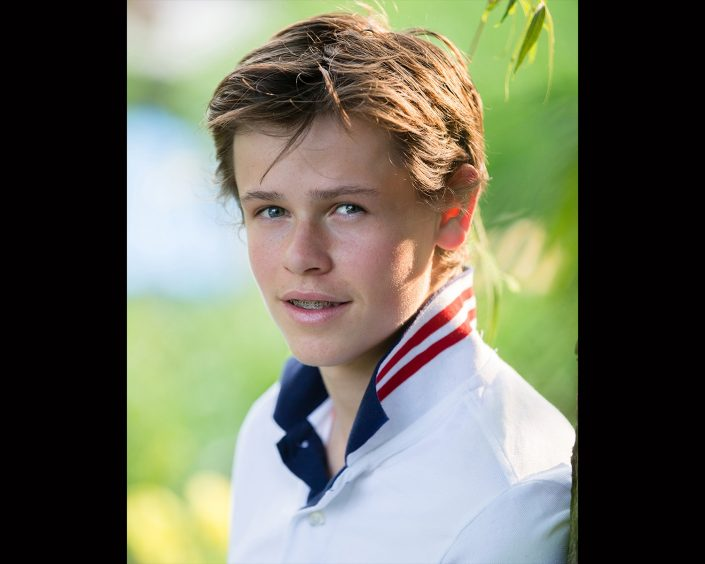 George wearing white polo shirt   Anne Lord Photography