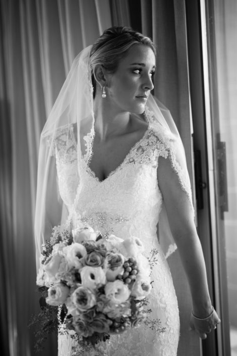 Beautiful Bride in black and white effect | Anne Lord Photography
