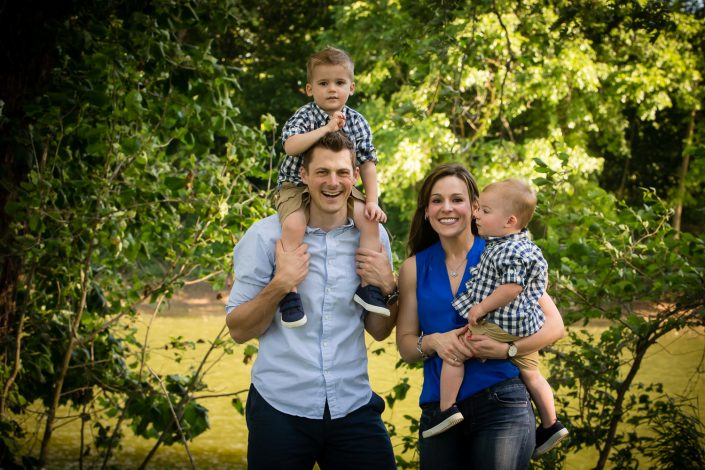 Happy couple with their sons | Anne Lord Photography
