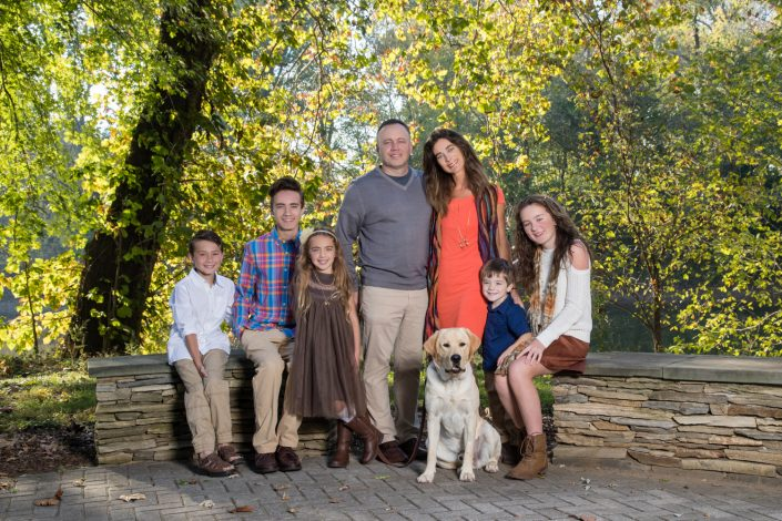Beautiful family with kids of five and a dog | Anne Lord Photography