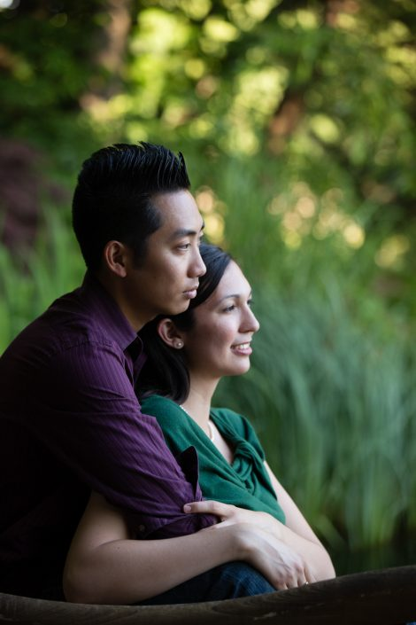 Asian guy with girllfriend leaning head on his shoulder | Anne Lord Photography